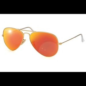 Ray-Ban Aviator Orange Flash Polarized Sunglasses